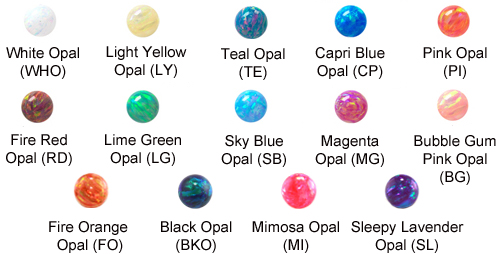 Faux-pal Cab Ball Gem Chart 7